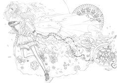 Hopes and Dreams: Illusion LINEART by serafleur.deviantart.com on @deviantART