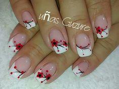 Flower Nail Designs, French Nail Designs, Diy Nail Designs, Flower Nail Art, Nail Designs Spring, Funky Nail Art, Pretty Nail Art, Beautiful Nail Art, Nail Art Kit