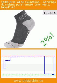 GORE BIKE WEAR Countdown - Calcetines de ciclismo para hombre, color negro, talla 41-43 (Sports Apparel). Baja 52%! Precio actual 12,30 €, el precio anterior fue de 25,52 €. https://www.adquisitio.es/gore/bike-wear-countdown-12