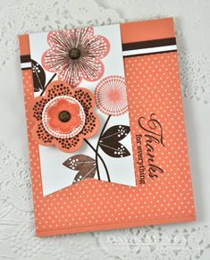Time After Time Challenge - Thanks For Everything Card by Dawn McVey for Papertrey Ink (August 2014)