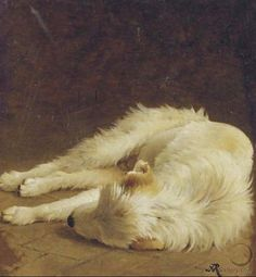 Sleeping Dog by Henriette Ronner-Knip, 1821