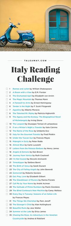 Italy Reading Challenge #italytravel