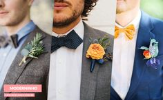 Blog OMG I'm Engaged - Flores de lapela para o traje do Noivo. Groom's suit.                                                                                                                                                      Mais