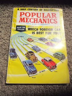 Popular Mechanics Magazine SEPTEMBER 1959 Yellow A Half Century of Helicopters