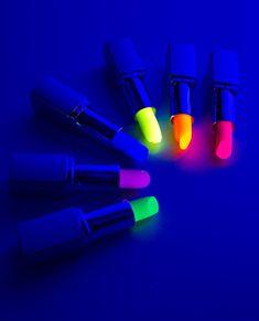 Neon lipstick for black lights