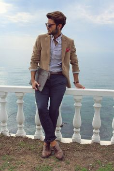 MenStyle1- Men's Style Blog - Men's Blazer. FOLLOW : Guidomaggi Shoes Pinterest...