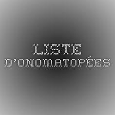 Liste d'onomatopées
