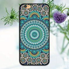 UV Printing Mandala Flower Cell Phone Cases For Apple iPhone 5 5S SE 5c 6 6 S Plus7 7plus Case -11 OPTIONS-