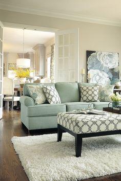 LIGHT BLUE SOFA | decorating with light blue sofa #ParkerKnoll | bocadolobo.com/  #modernsofa #sofaideas