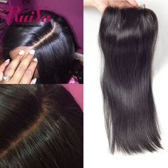 """Malaysian Virgin Hair4""""x4"""" Malaysian Lace Closure Straight 8""""-24"""" Human Hair Closure With Bleached Knots Free/Middle/Three Part"""