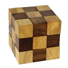 Wooden Puzzle adult snake cube Handmade gifts India ShalinIndia http://www.amazon.com/dp/B00H5HOWG4/ref=cm_sw_r_pi_dp_3mbKtb0M3XSZ3YZS