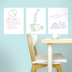 Marvelous Dry Erase Wall Stickers. Peel U0026 Stick Vinyl. Removable, Reusable, Non
