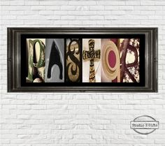Pastor Vintage Letter Art  Rustic pastor Name Sign by StudioEGifts