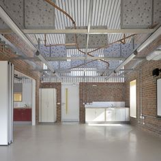 Image 20 of 29 from gallery of Sandal Magna Community Primary School / Sarah Wigglesworth Architects. Photograph by Mark Hadden Photography I School, Primary School, Acoustic Baffles, Office Interiors, Community, Sandals, Architecture, Building, Education