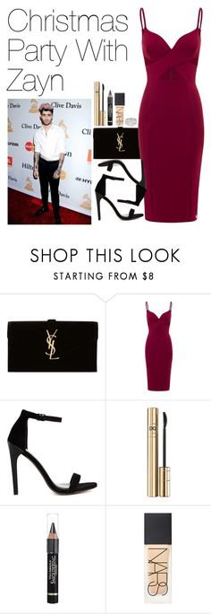 """Christmas Party with Zayn Malik"" by onedirectionimagineoutfits99 ❤ liked on Polyvore featuring Yves Saint Laurent, Aloura London, ASOS, D&G, Anrealage, NARS Cosmetics, GALA and Jon Richard"