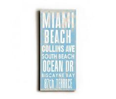 Miami beach transit sign