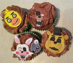 Five night freddy cupcakes