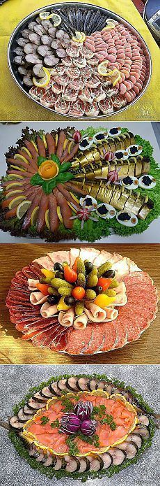 Праздничная нарезка -рыбная Party Trays, Party Buffet, Party Snacks, Meat Trays, Food Platters, Party Finger Foods, Food Decoration, Appetisers, Creative Food