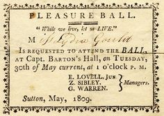LOVE this 1809 Afternoon Ball invitation!