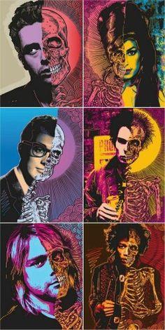 New pop art poster student 60 Ideas Animal Art Projects, Fall Art Projects, Toddler Art Projects, Janis Joplin, Art Pop, John Lennon, Chalkboard Art Quotes, Ben Brown, Family Tree Art