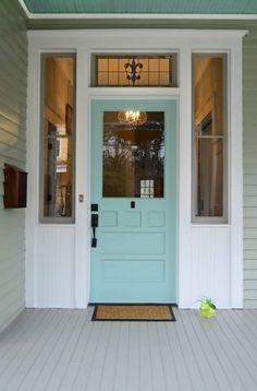Teal Front Doors, Unique Front Doors, Victorian Front Doors, Cottage Front Doors, Beautiful Front Doors, Front Door Paint Colors, Exterior Paint Colors For House, Painted Front Doors, House Front Door