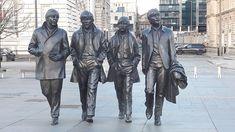 Beatles statue , Pier Head , Liverpool. March 2018