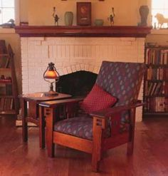 """73 - Morris Chair - This plan originally appeared in Popular Woodworking Magazine. It was used without attribution in #MyShedPlans """"220 Woodworking Projects"""""""