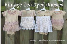 DIY: Tea Dying onesies