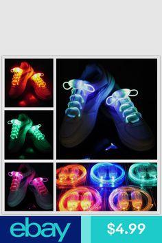 c19b2efcc86 New LED Flash Luminous Light Up Glow Strap Shoelace Shoe Laces Party Disco  Props