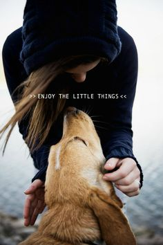 Enjoy the little things, like a moment with your #dog... :)