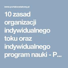 10 zasad organizacji indywidualnego toku oraz indywidualnego program nauki - Portal Oświatowy Program, Portal, Tokyo, Tokyo Japan