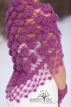 Bridal Shrug // Bridal Bolero // Shawl // Winter by MODAcrochet Crochet Classes, Crochet Videos, Crochet Capas, Bridal Bolero, Crochet Fashion, Crochet Shawl, Knitting Designs, Shawls And Wraps, Crochet Patterns