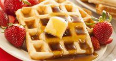 Ice Cream For Breakfast, Savory Breakfast, Breakfast Recipes, Easy Waffle Recipe, Waffle Recipes, Aunt Jemima Waffle Recipe, Easy Brunch Menu, Brunch Ideas, Recipe Foe