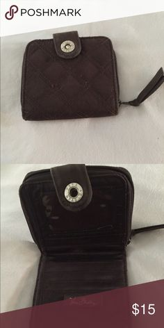 Vera Bradley small wallet Vera Bradley chocolate brown quilted small change/credit card purse Vera Bradley Bags Wallets