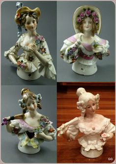 German HALF DOLLS - these are some really nice ones.
