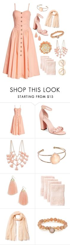 """""""Just Peachy 🍑"""" by krgood7 ❤ liked on Polyvore featuring Free People, Avec Les Filles, Design Lab, Panacea, Nordstrom Rack, Agnona, Chloé, monochrome, peachcolor and feelingpeachy"""
