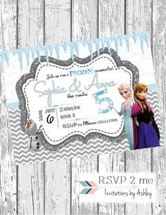 Frozen theme, Frozen Birthday Invitation, Disney Frozen, Girl Frozen Birthday, Olof themed, digital and print by RSVP2mebyAshley on Etsy