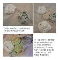 Weaved fabric roses tutorial  - #art, #diy