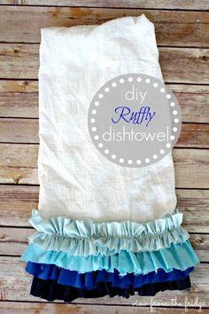 Ruffly Dishtowels from View from the Fridge. Soooo cute!
