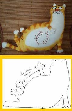 bonecos de pano - gatos