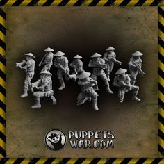 Join the army they said. It'll be fun they said;) Bushi Troopers Unit https://puppetswar.eu/product.php?id_product=304