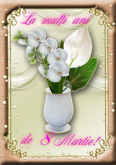 8Martie 8 Martie, Happy Birthday, Happy Brithday, Urari La Multi Ani, Happy Birthday Funny, Happy Birth