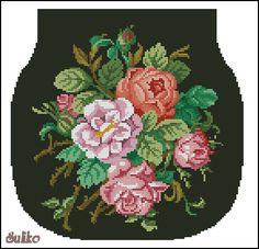 Cross Stitch Rose, Cross Stitch Flowers, Cross Stitch Charts, Cross Stitch Patterns, Cross Stitch Collection, Beaded Bags, Crafty Craft, Wool Yarn, Plastic Canvas