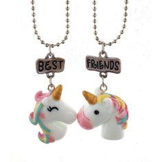 Best Friend Unicorn Pendant Necklace