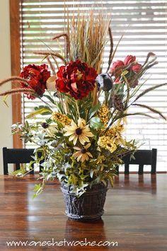 DIY Silk Flower Arrangement Centerpiece (Saved Me $100 Bucks!) - Or so she says...