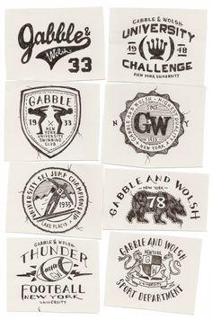 Gabble & Wolsh by BMD Design , via Behance