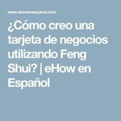 ¿Cómo creo una tarjeta de negocios utilizando Feng Shui? | eHow en Español