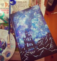 A Court of Mist and Fury- Sarah J. Maas. DIY book cover painting #acomaf…