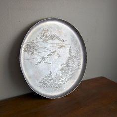 Vintage Aluminum Etched Tray. $16.00, via Etsy.