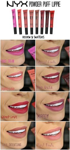 NYX Powder Puff Lippie (All 8 Shades) Review   Swatches Nyx Lipstick  Swatches 0ec6b535f5